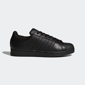 Adidas all black superstar sneaker